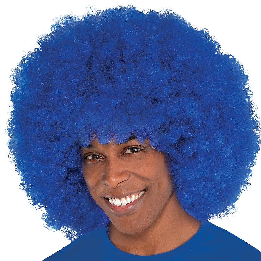 Giant Blue Afro Wig Image #2