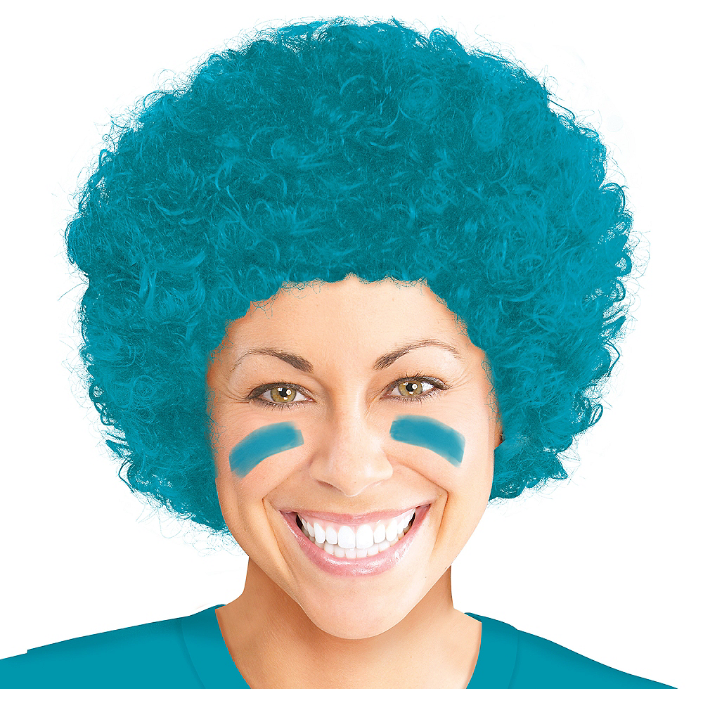 Turquoise Curly Wig Image #1