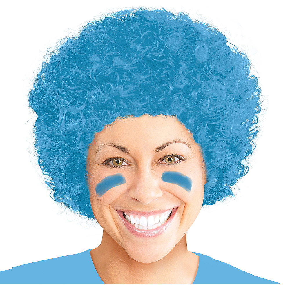 Nav Item for Light Blue Afro Wig Image #1