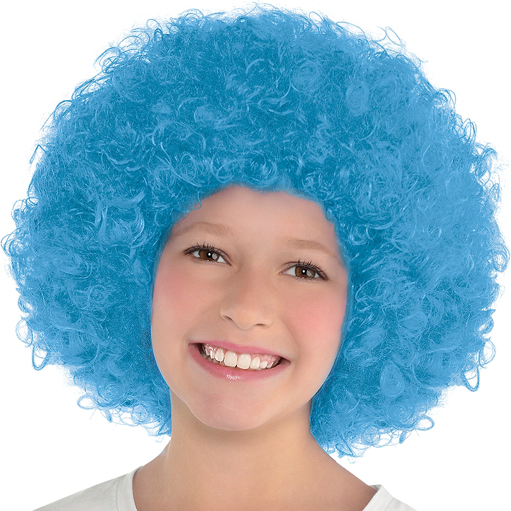 Nav Item for Light Blue Afro Wig Image #2