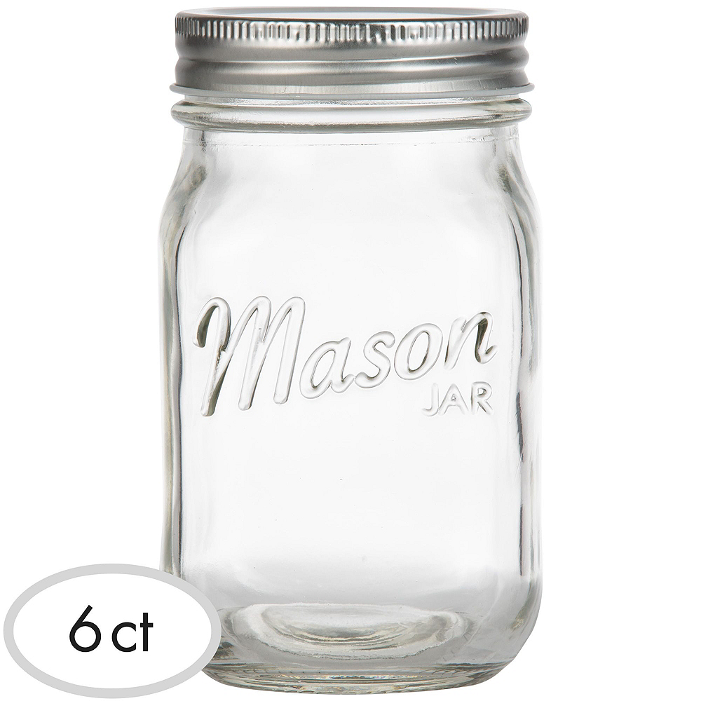 Clear Glass Mason Jars 6ct Party City Canada