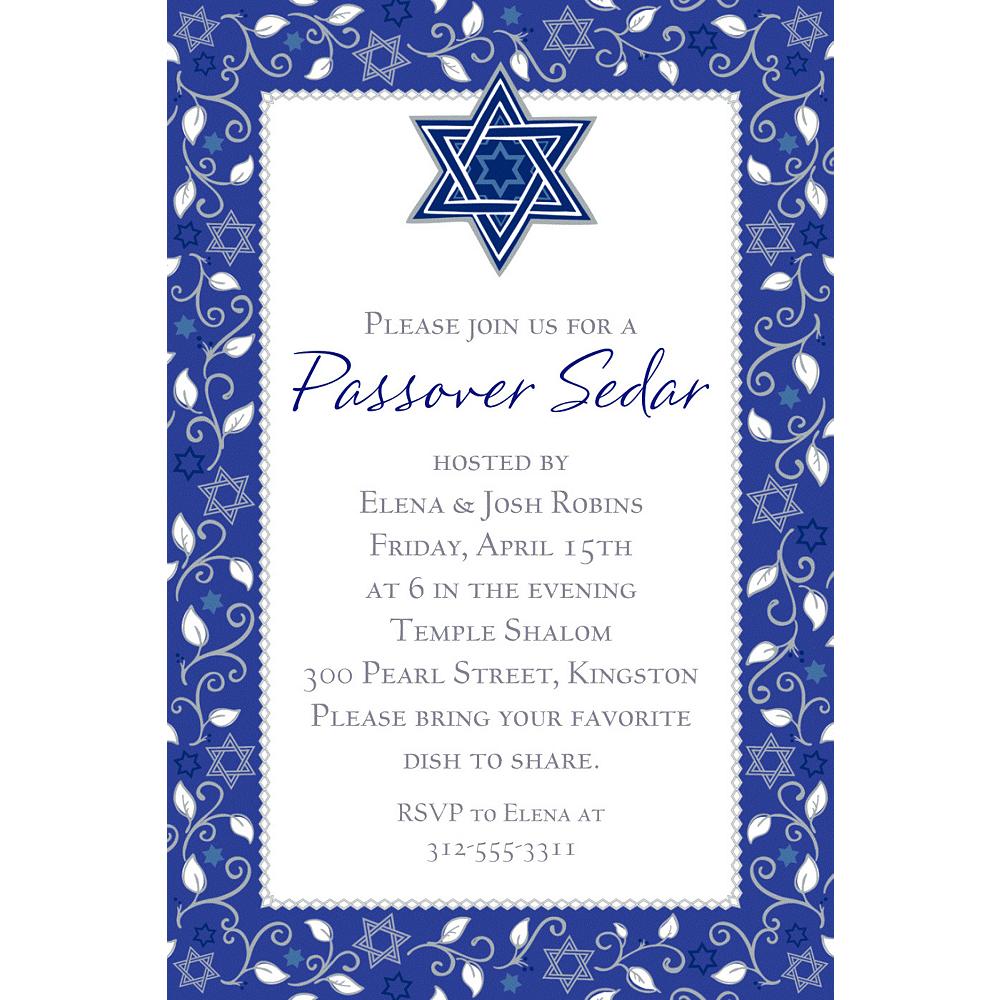 Custom Joyous Passover Invitation Image #1