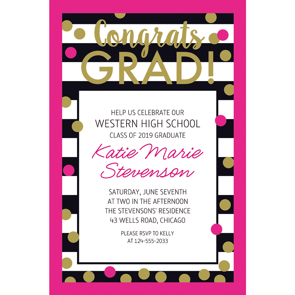 Custom Confetti Graduation Invitations | Party City