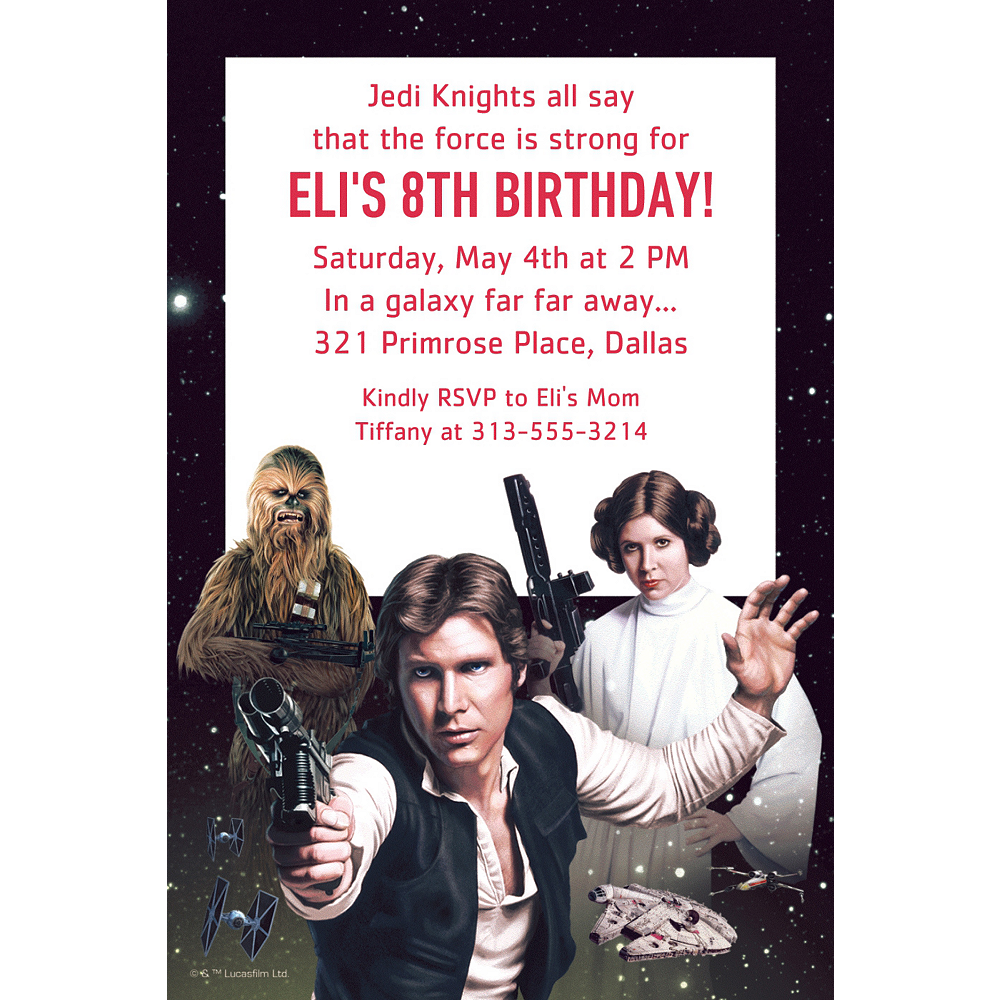 Custom Star Wars Invitations Party City