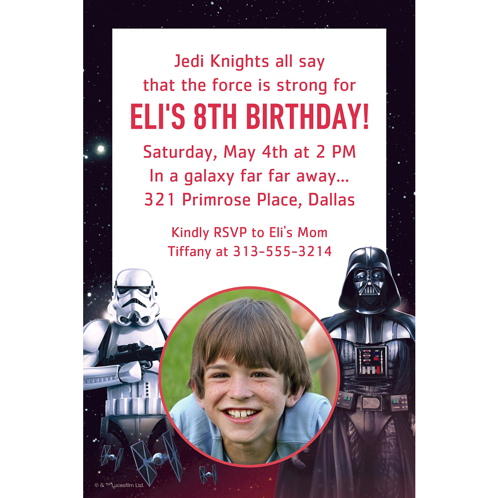Custom Star Wars Photo Invitations Party City