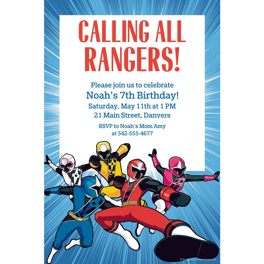 Custom Power Rangers Ninja Steel Invitation Image 1