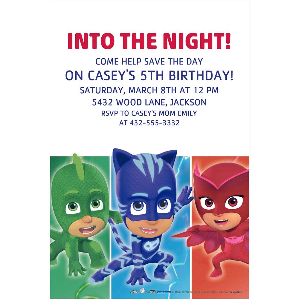custom pj masks invitations party city