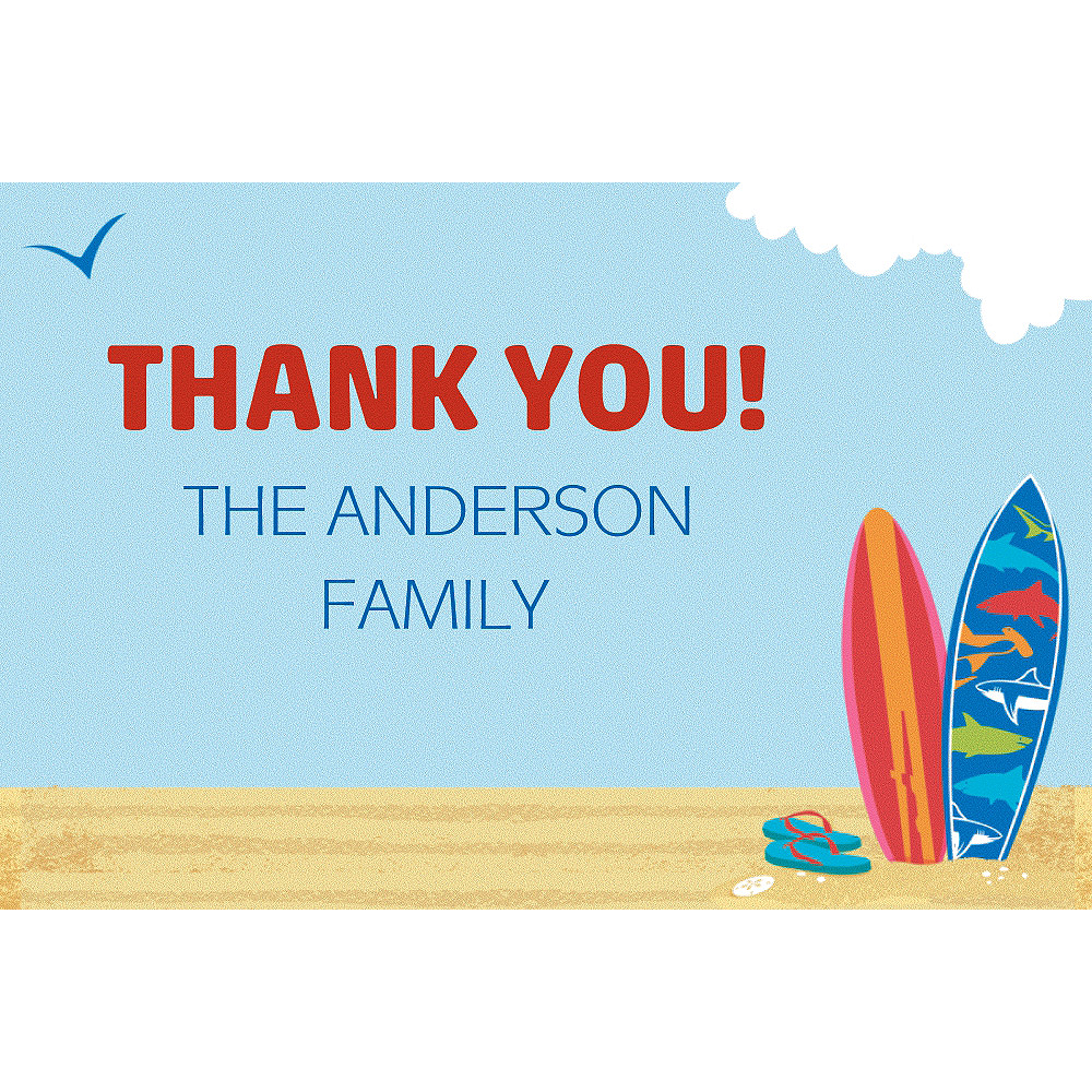 Custom Sun & Surf Beach Thank You Note  Image #1