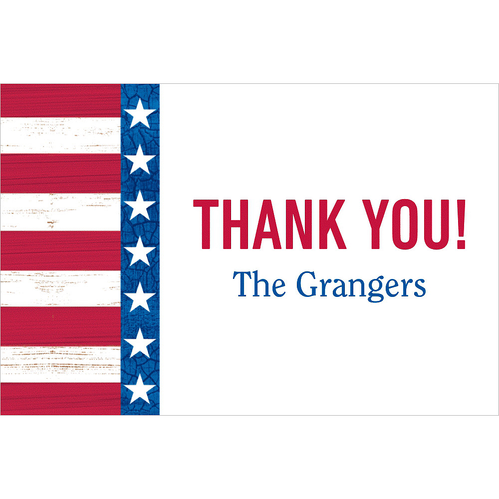Custom Star Spangled Thank You Note Image #1