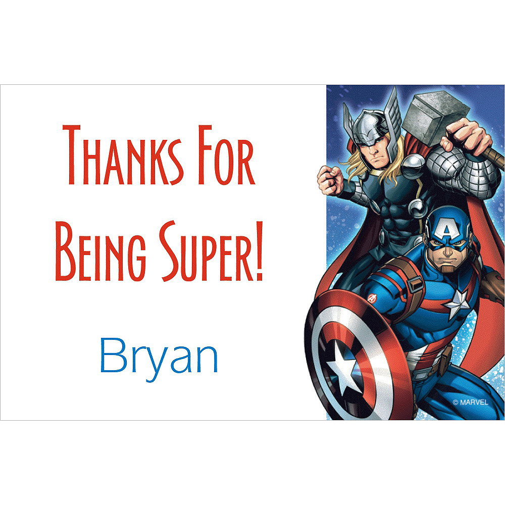Custom Epic Avengers Thank You Notes | Party City