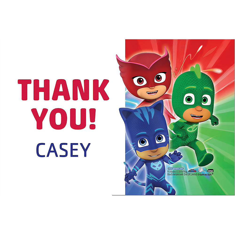 Custom PJ Masks Thank You Note  Image #1