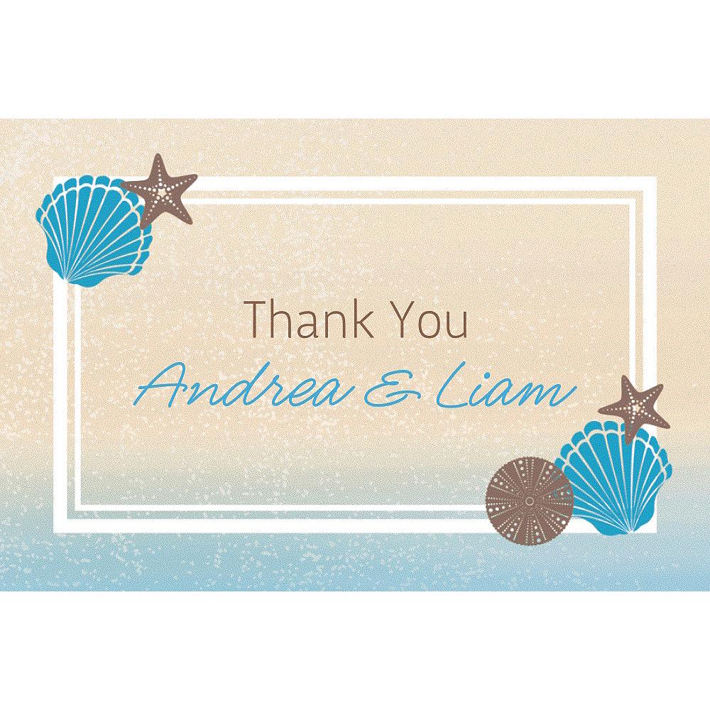 Custom Seashell Beach Thank You Note Image #1