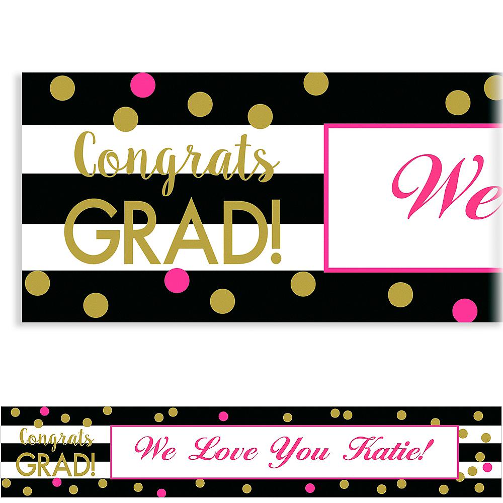Custom Confetti Graduation Banner  Image #1