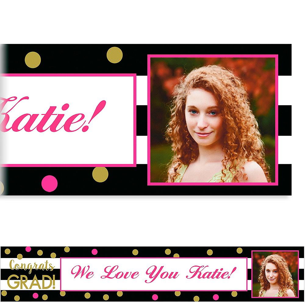 Custom Confetti Graduation Photo Banner    Image #1