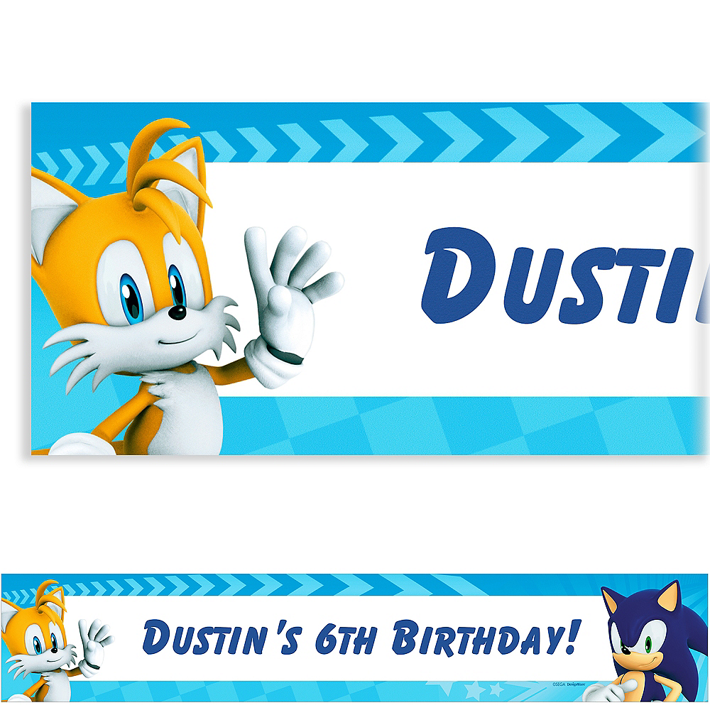 Custom Sonic The Hedgehog Banners Party City