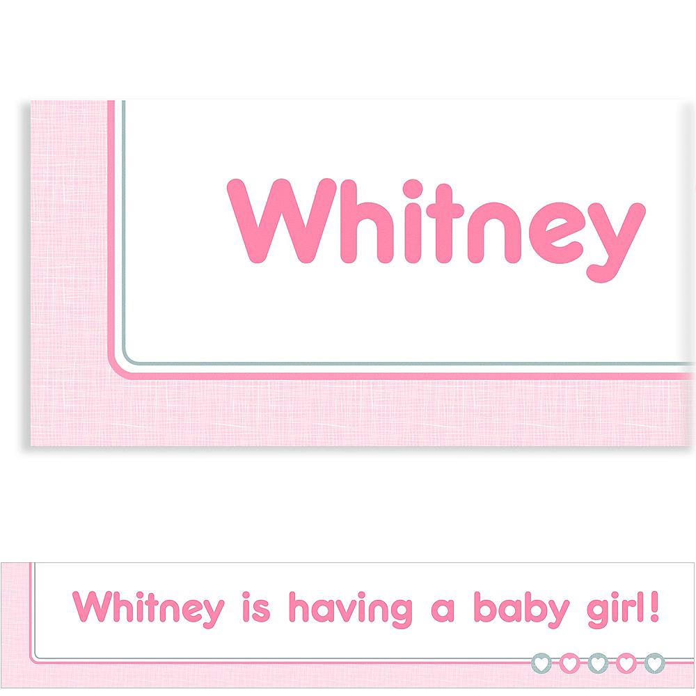 Custom Gray & Pink Hearts Banner Image #1