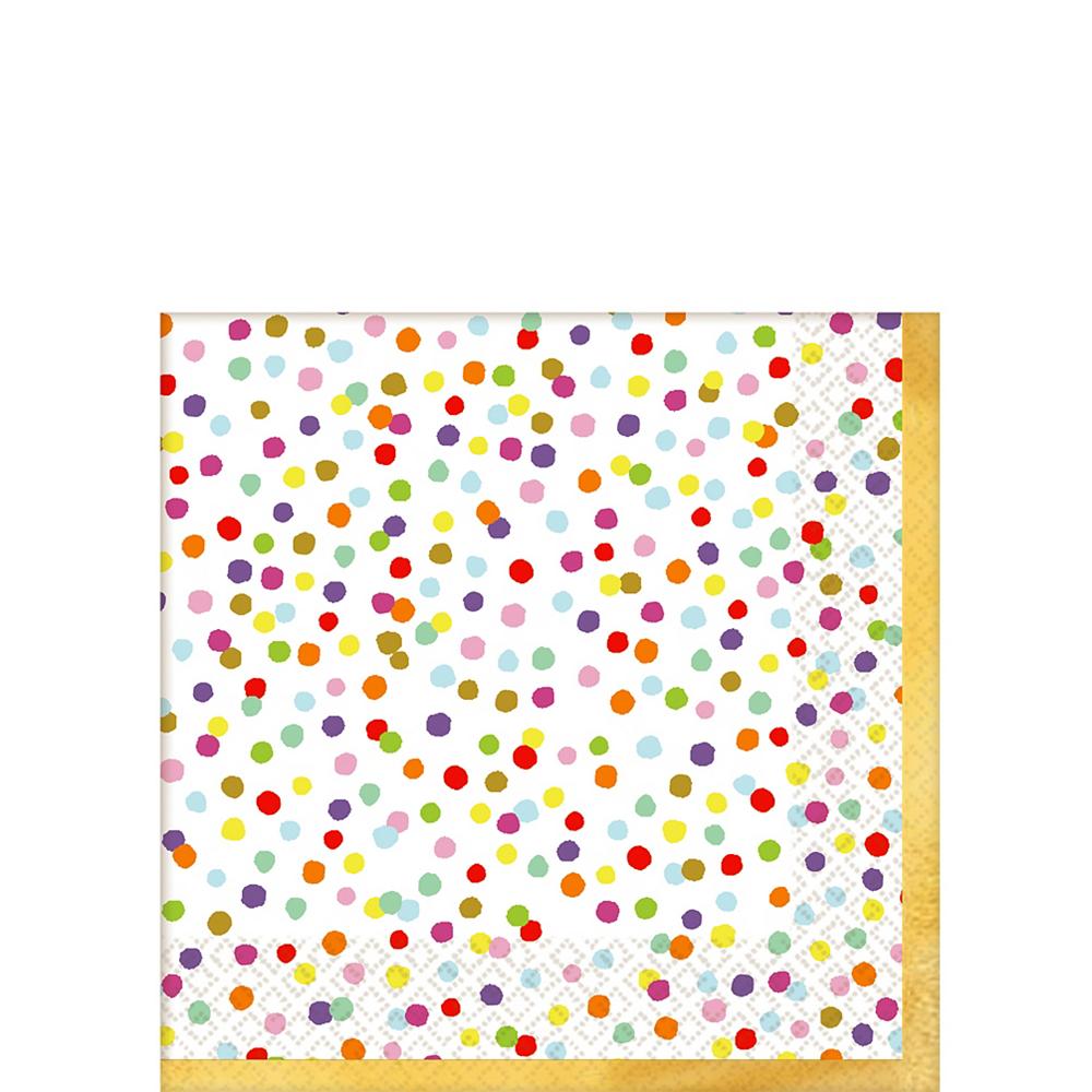 Rainbow Confetti Beverage Napkins 36ct Image #1