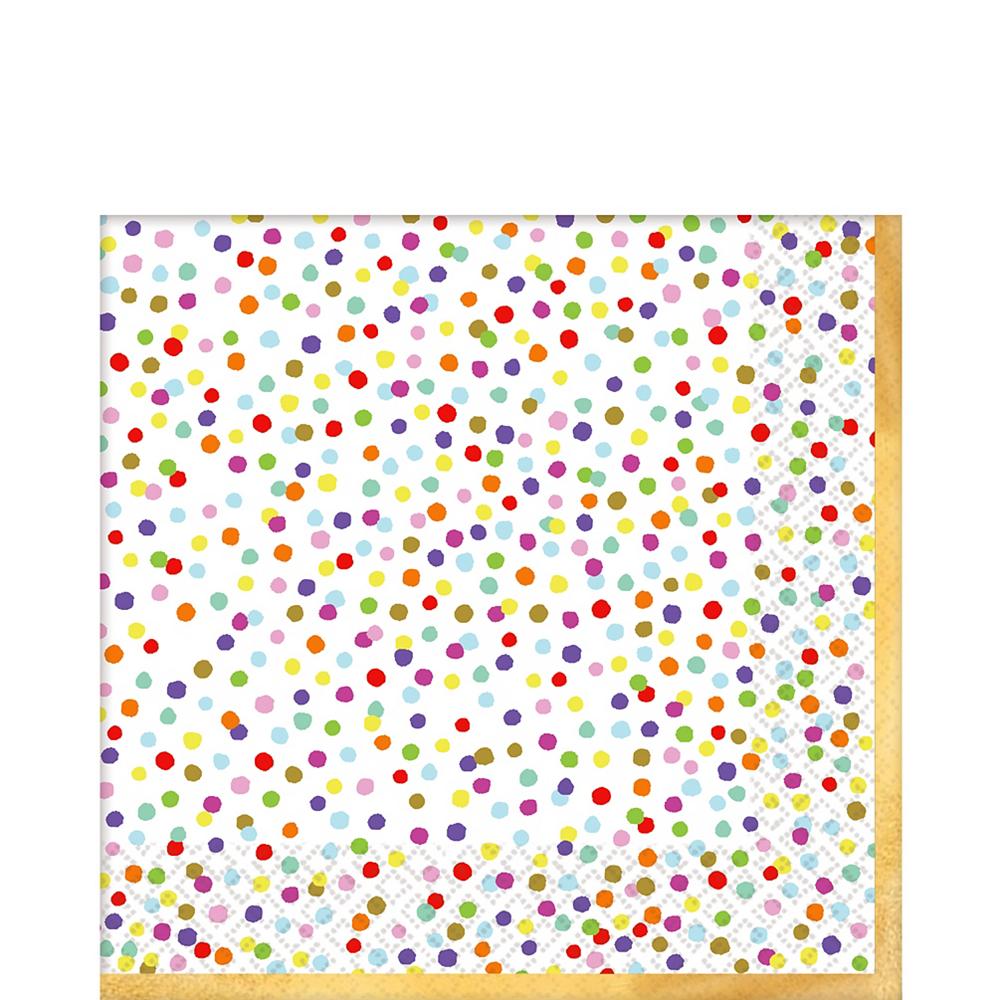 Rainbow Confetti Lunch Napkins 36ct Image #1