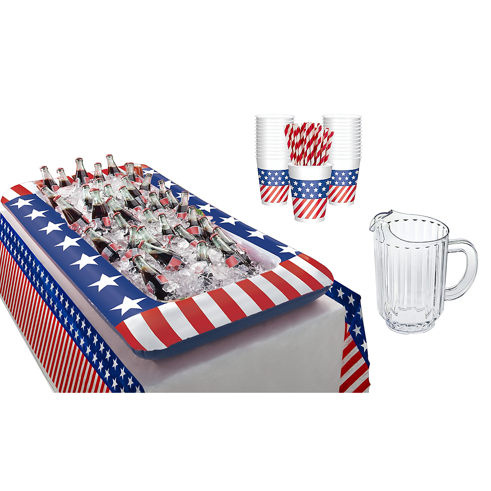American Flag Drink Table Kit Image #1