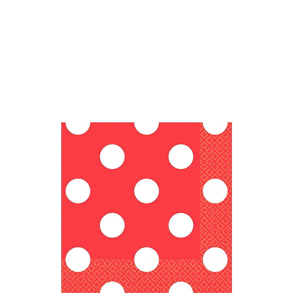 Red Polka Dot & Chevron Paper Tableware Kit for 16 Guests Image #4