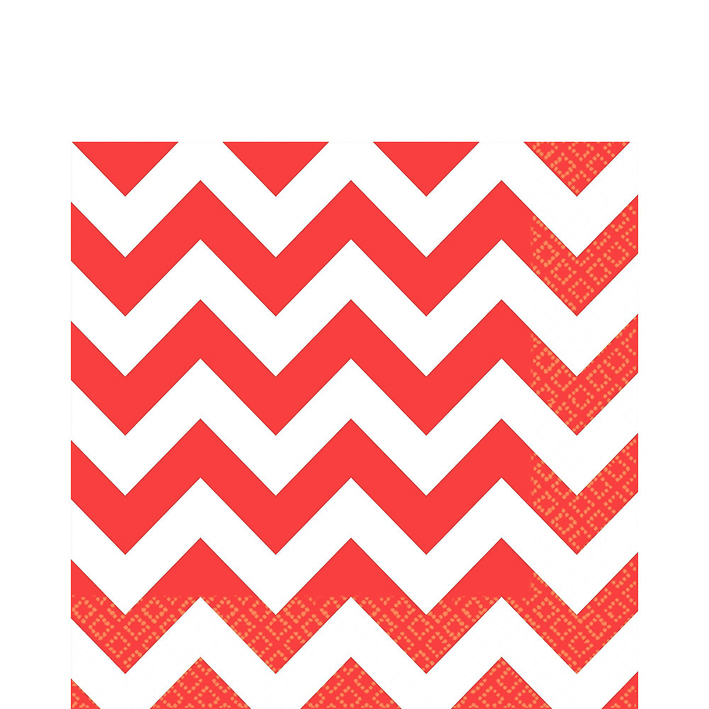 Red Polka Dot & Chevron Paper Tableware Kit for 16 Guests Image #5