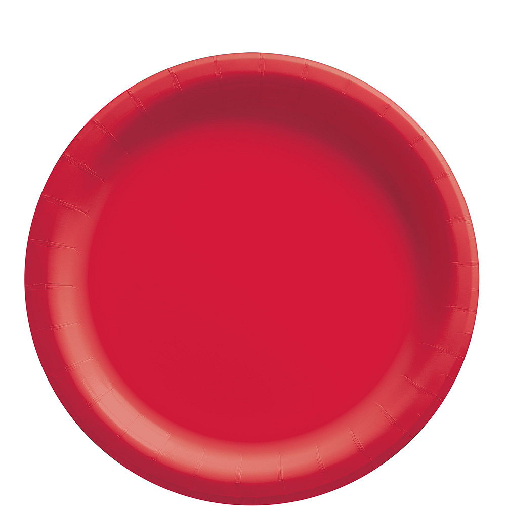 Red Paper Tableware Kit for 50 Guests Image #3