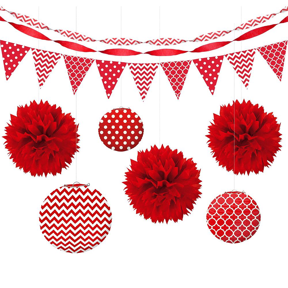Red Polka Dot & Chevron Decorating Kit Image #1