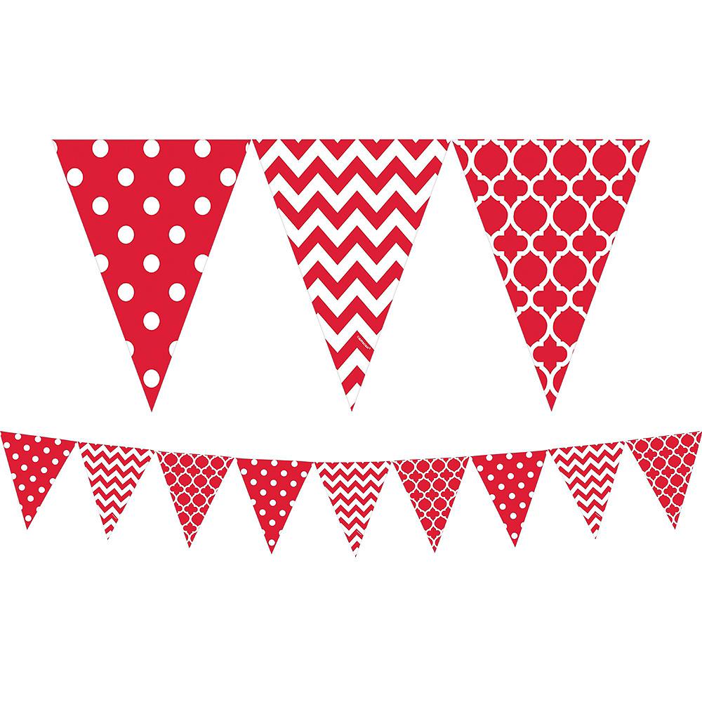 Red Polka Dot & Chevron Decorating Kit Image #4