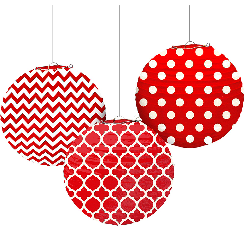 Red Polka Dot & Chevron Decorating Kit Image #6