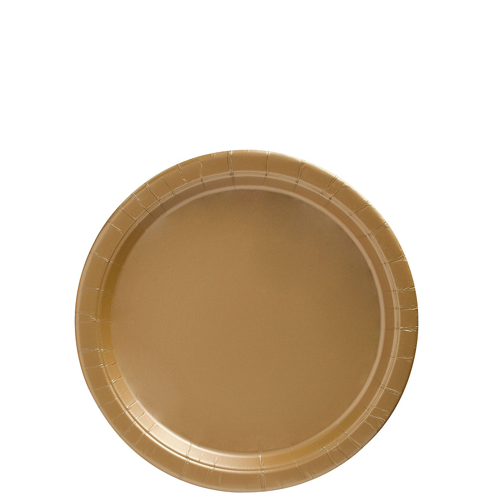 Gold Paper Tableware Kit for 50 Guests Image #2