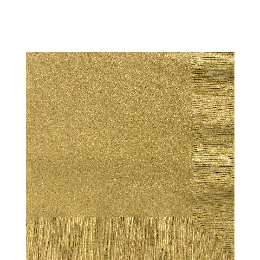 Gold Plastic Tableware Kit for 50 Guests Image #4