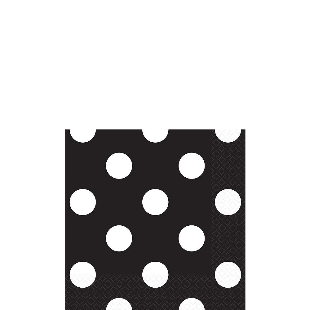 Black Polka Dot & Chevron Paper Tableware Kit for 16 Guests Image #4