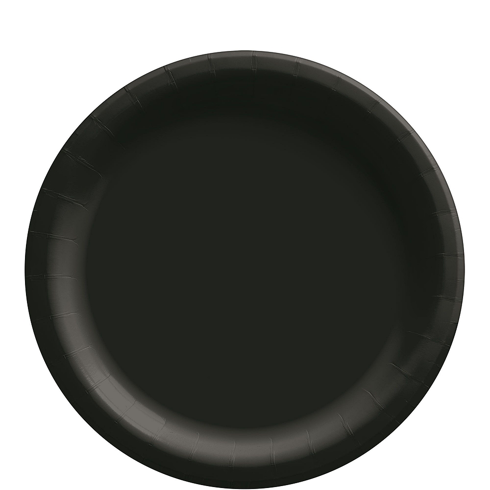 Black Paper Tableware Kit for 50 Guests Image #3