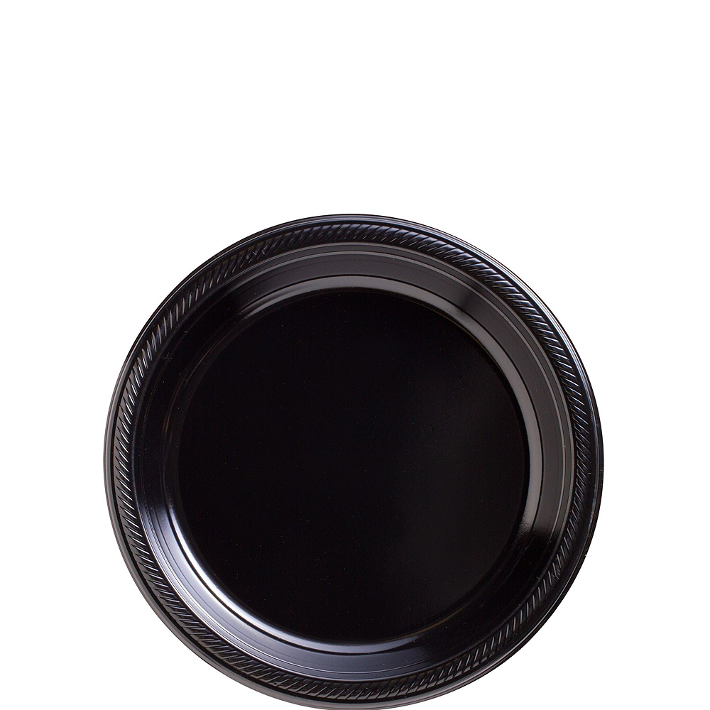 Black Plastic Tableware Kit for 50 Guests Image #2