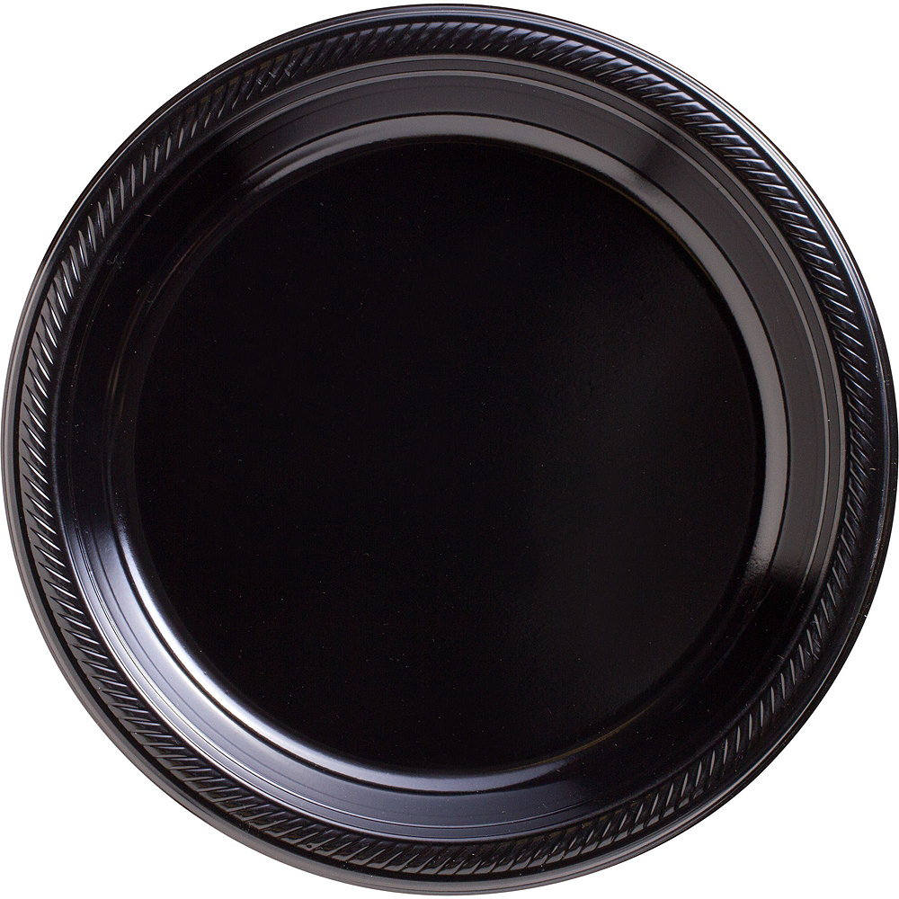 Black Plastic Tableware Kit for 50 Guests Image #3
