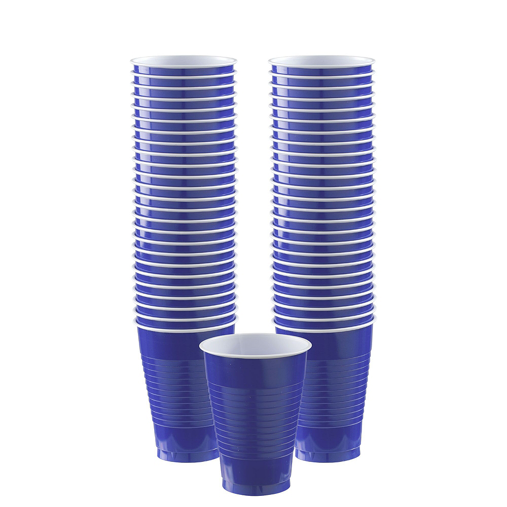 Royal Blue Plastic Tableware Kit for 50 Guests Image #5