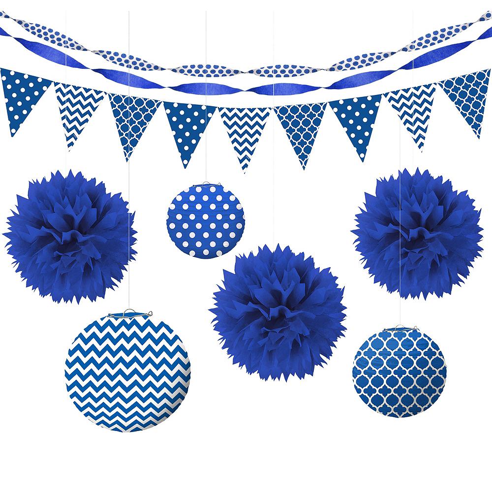 Royal Blue Polka Dot & Chevron Decorating Kit Image #1