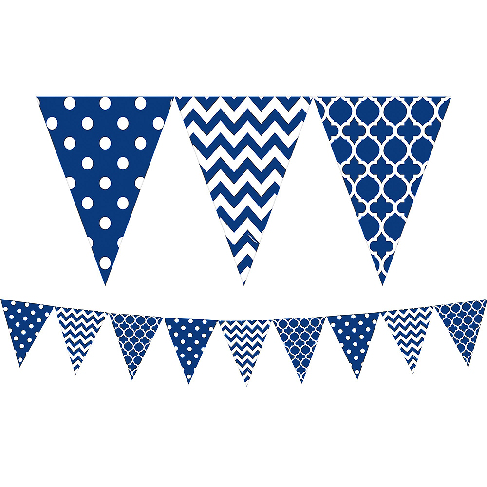 Royal Blue Polka Dot & Chevron Decorating Kit Image #4
