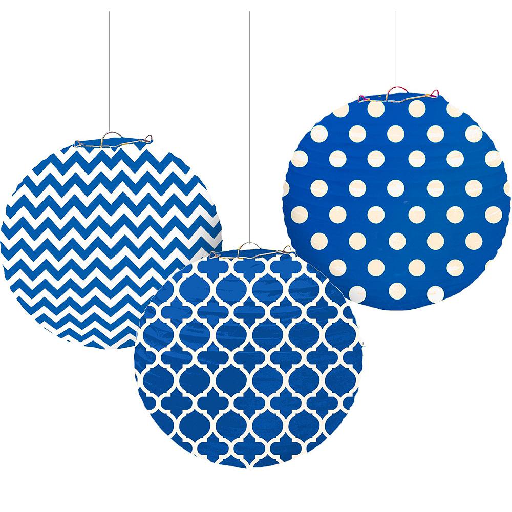 Royal Blue Polka Dot & Chevron Decorating Kit Image #6