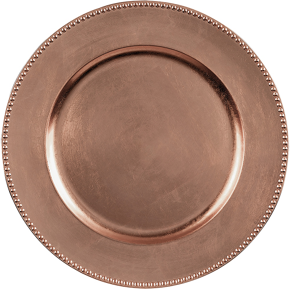 Rose Gold Plastic Charger Image #1