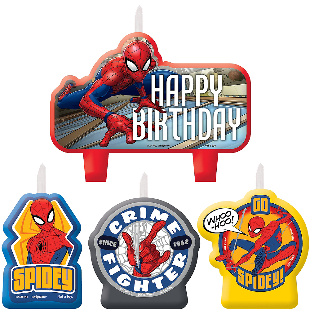Spider-Man Webbed Wonder Birthday Candles 4ct Image #1