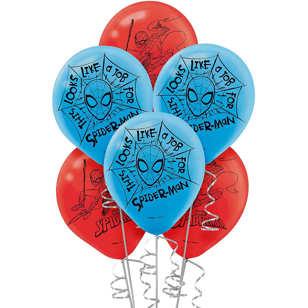 Spider-Man Webbed Wonder Balloons 6ct Image #1