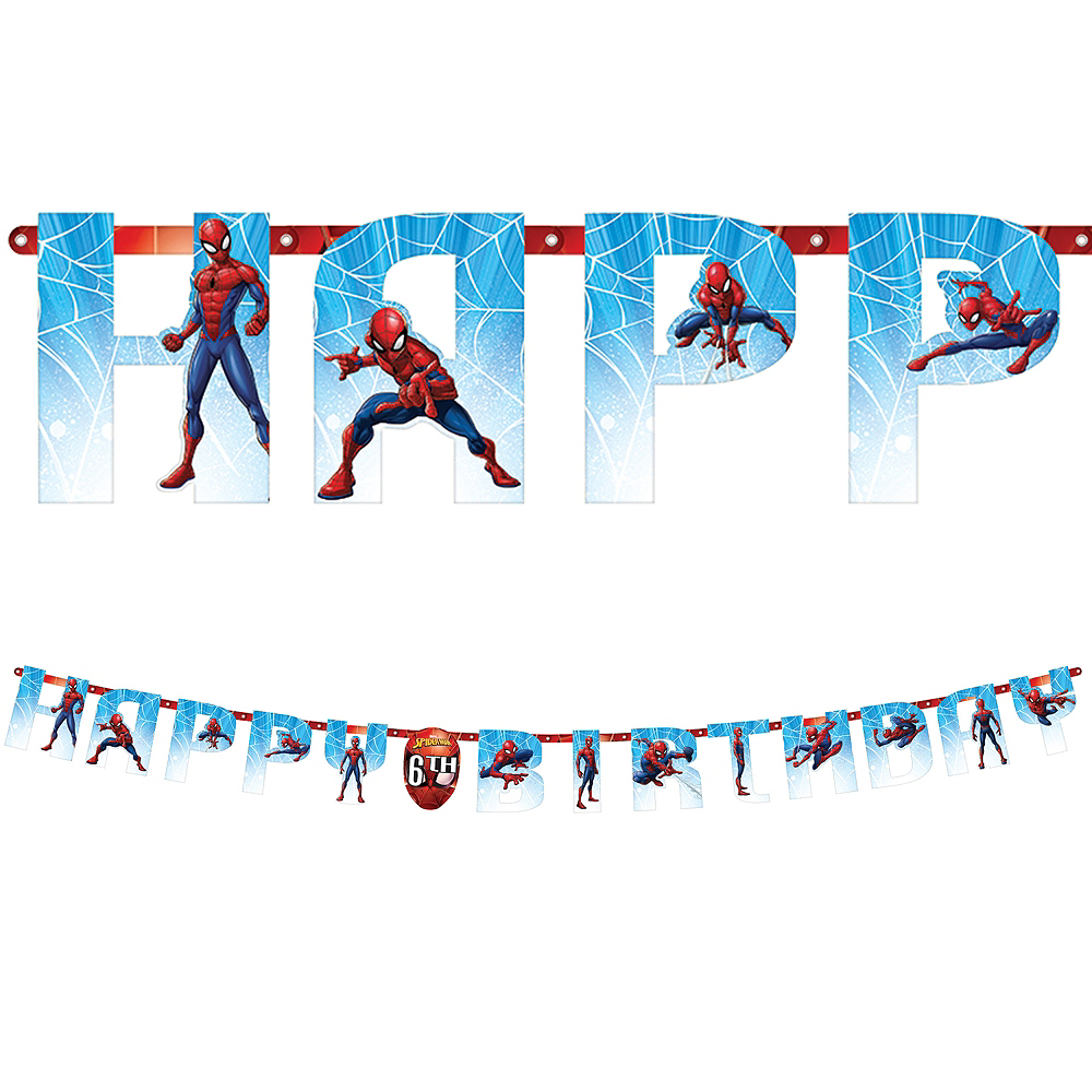 Spider-Man Webbed Wonder Birthday Banner Kit Image #1