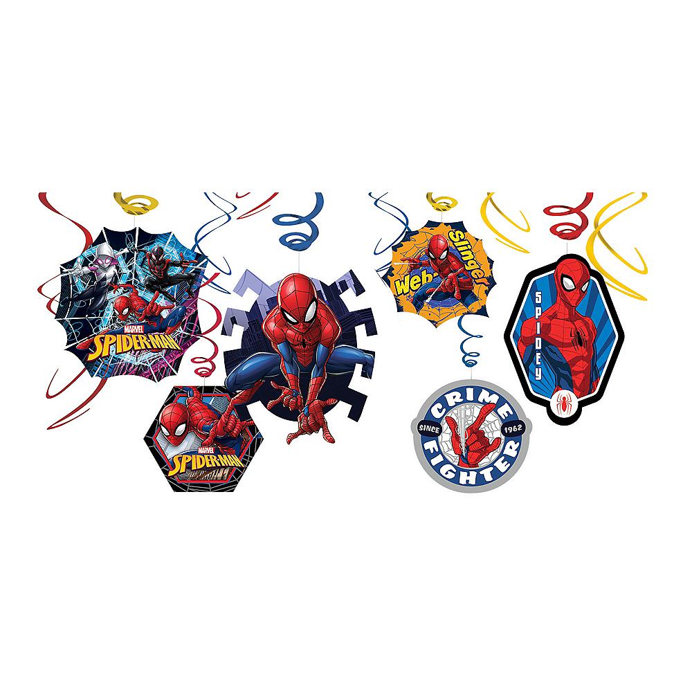 Spider-Man Webbed Wonder Swirl Decorations 12ct Image #1