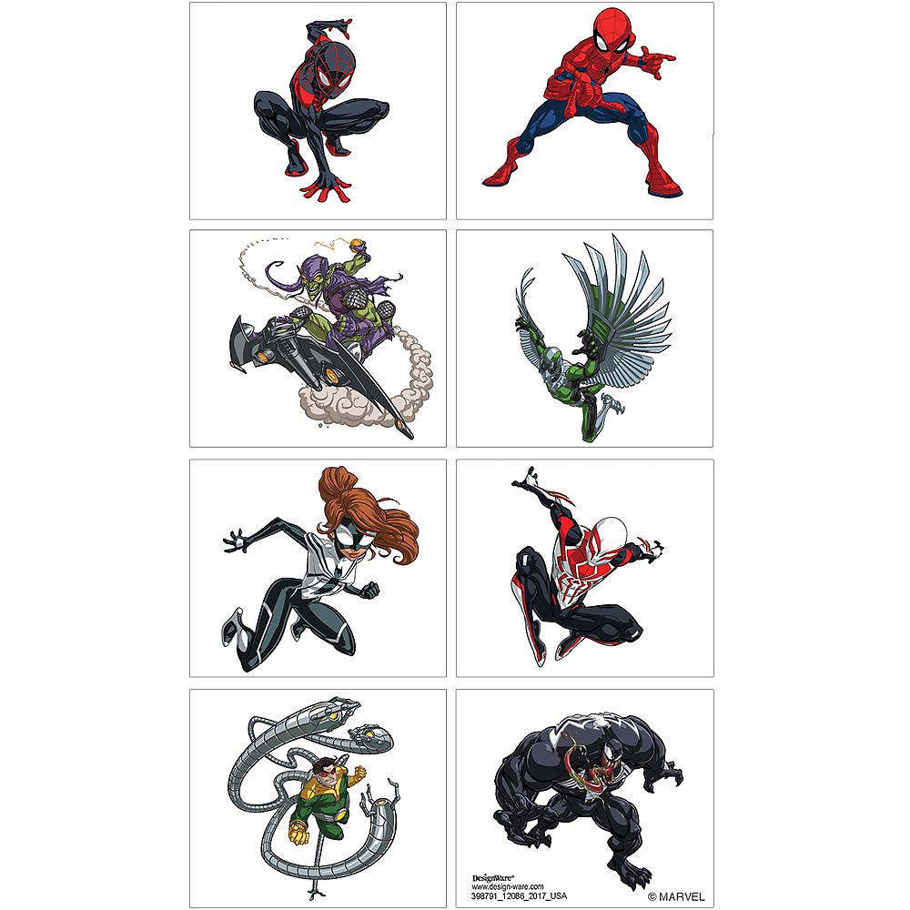 Spider-Man Webbed Wonder Tattoos 1 Sheet Image #1