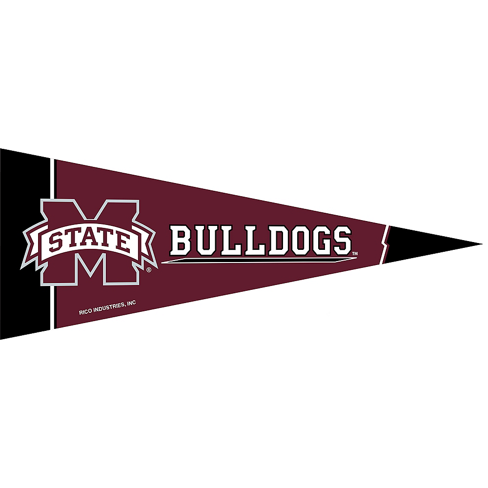 Nav Item for Small Mississippi State Bulldogs Pennant Flag Image #1