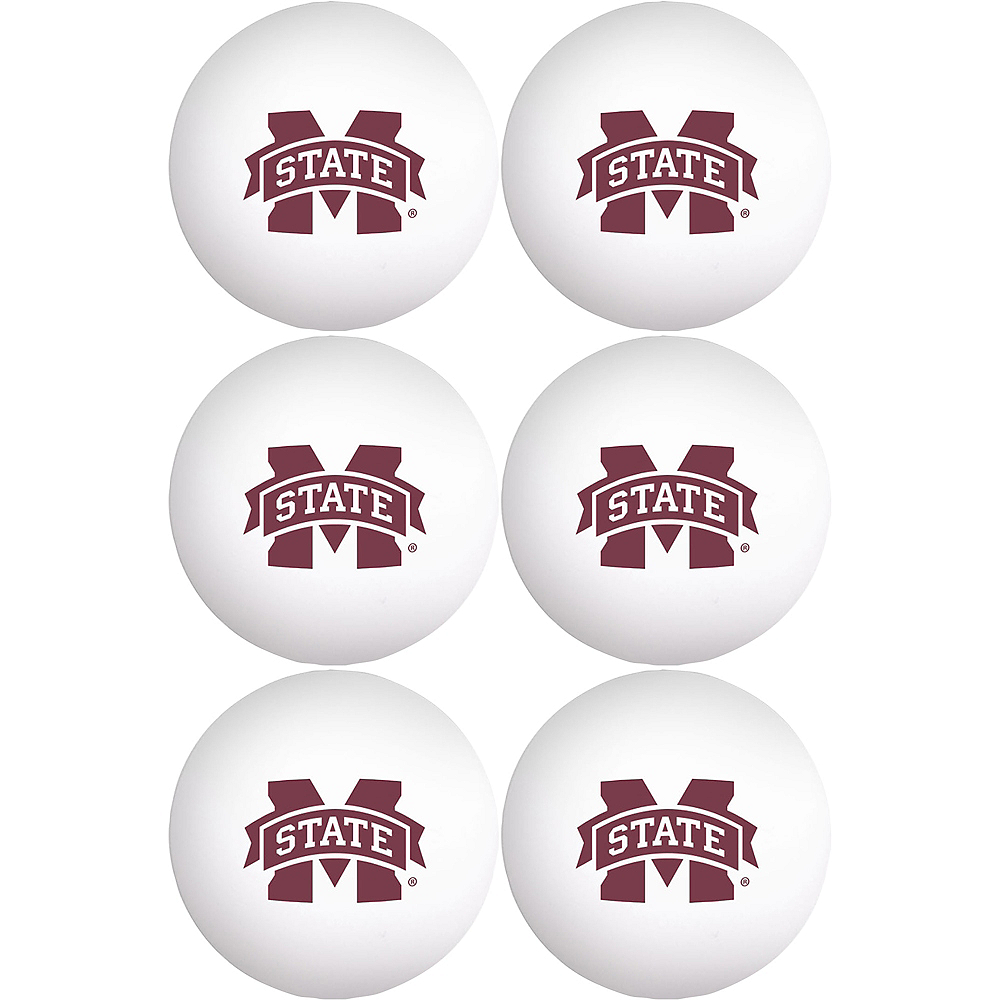 Mississippi State Bulldogs Pong Balls 6ct Image #1