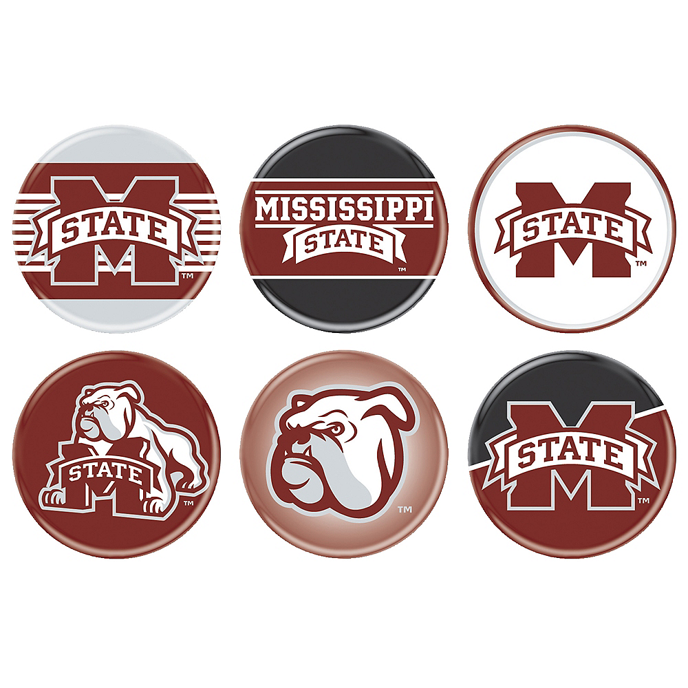 Mississippi State Bulldogs Buttons 4ct Image #1