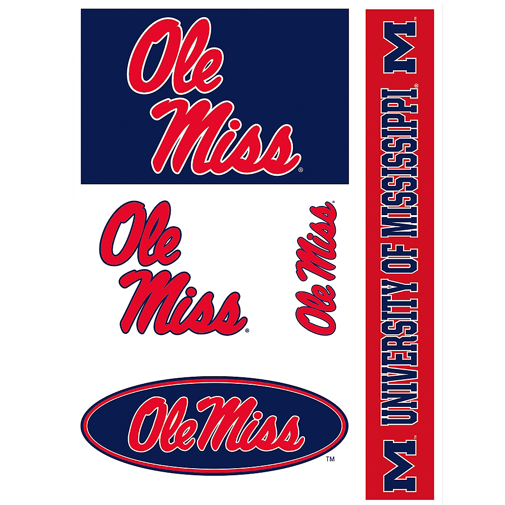 Ole Miss Rebels Decals 5ct Image #1