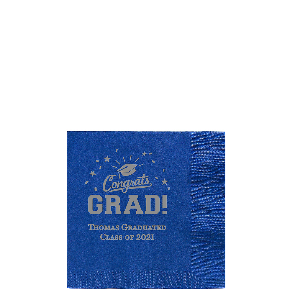 Personalized Graduation Beverage Napkins    Image #1